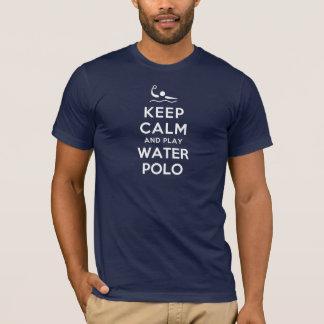 T-shirt Gardez le polo d'eau de calme et de jeu