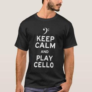 T-shirt Gardez le violoncelle de calme et de jeu