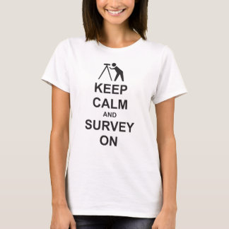 T-shirt Gardez l'enquête calme sur le tee - shirt