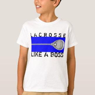 T-shirt Gardien de but de lacrosse