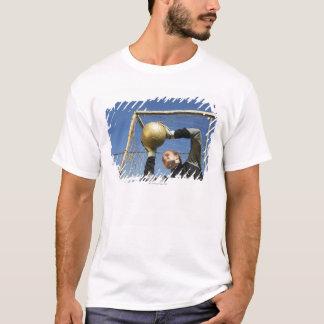 T-shirt Gardien de but féminin (12-14) tenant la boule,