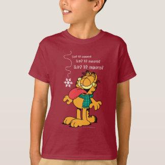 T-shirt Garfield l'a laissé neiger !