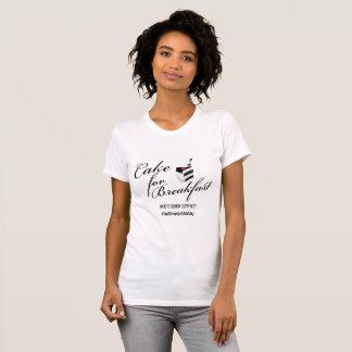 T-shirt Gâteau pour le petit déjeuner Chemise-Noir+Blanc