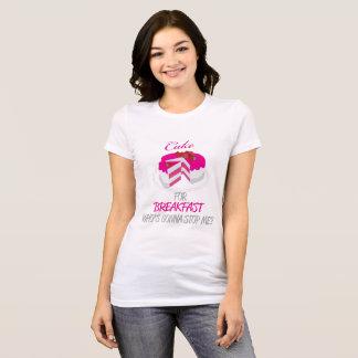 T-shirt Gâteau pour le petit déjeuner Chemise-Rose