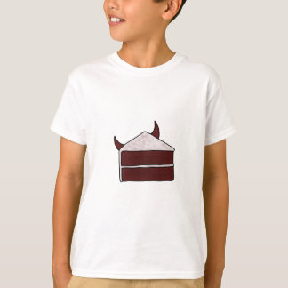 T-shirt Gâteau rouge de diable de velours
