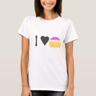 T-shirt Gâteaux de tasse d'ILove