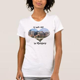 T-shirt Gauche mon horizon Alberta Canada de ville de