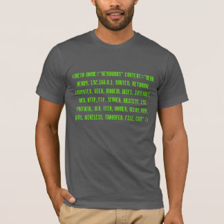 T-shirt Geeky de code source de HTML