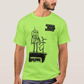 T-shirt Geeky de suicide de robot
