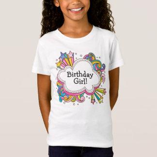 T-shirt génial de fille d'anniversaire de nuage