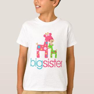 T-shirt génial de grande soeur de girafe