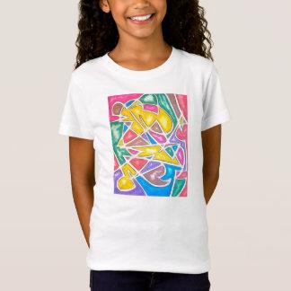 T-Shirt Géométrique abstrait peint parMain d'hippopotame