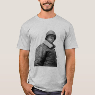 T-shirt George Patton et citation - gris