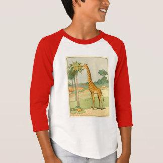 T-shirt Girafe africaine mangeant le feuille d'acacia