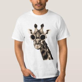 T-shirt Girafe avec des lunettes de lunettes de soleil de