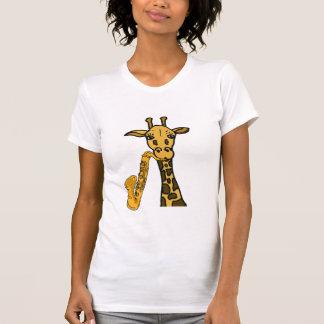 T-shirt Girafe de HACHE jouant la chemise de saxo