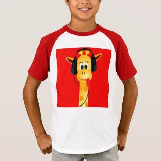 T-shirt Girafe drôle avec comique lumineux coloré