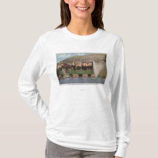 T-shirt Glenwood Springs, Co - vue de l'hôtel Co et