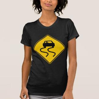 T-shirt Glissant quand signe humide de route