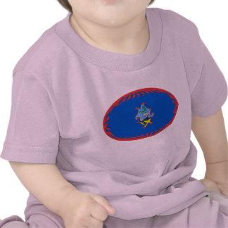 T-shirt Gnarly de drapeau de la Guam