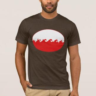 T-shirt Gnarly de drapeau de la Pologne