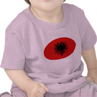 T-shirt Gnarly de drapeau de l'Albanie