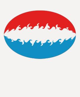 T-shirt Gnarly de drapeau du luxembourgeois