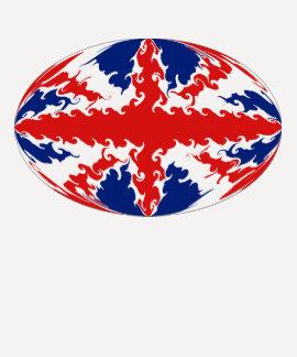 T-shirt Gnarly de drapeau du Royaume-Uni