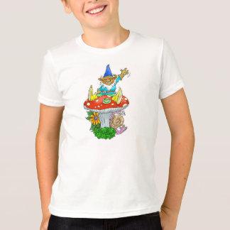 T-shirt Gnome. de ondulation de jardin