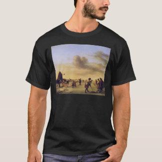 T-shirt Golfeurs d'Adriaen van de Velde sur la glace près