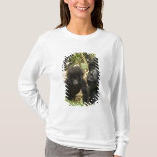 T-shirt Gorille de montagne, adulte avec des jeunes