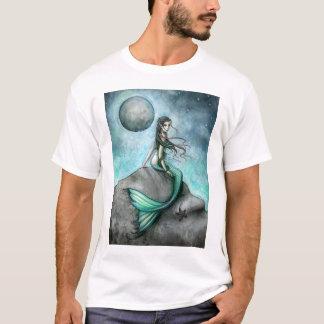 T-shirt gothique d'art d'imaginaire de sirène de