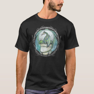 T-shirt gothique de dragon vert