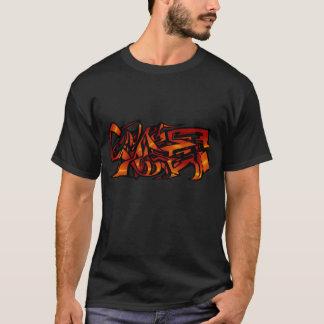 T-shirt graffiti orange