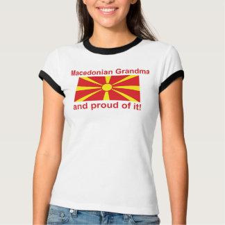 T-shirt Grand-maman macédonienne fière