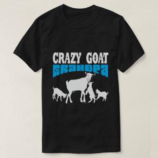 T-shirt Grand-papa fou GYG bleu de chèvre de l'amant | de