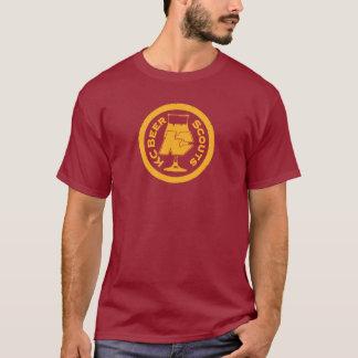 T-shirt Grande chemise de scouts de bière du rouge foncé