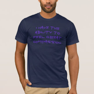 T-shirt grande compassion de sensation