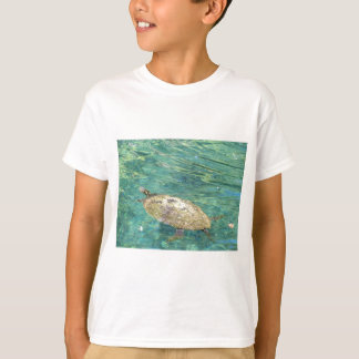 T-shirt grande natation de tortue de rivière