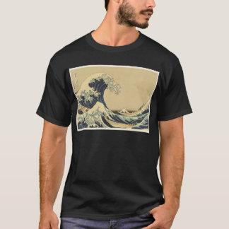 T-shirt Grande vague de Hokusai outre de Kanagawa