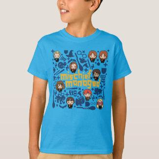 """T-shirt Graphique contrôlé """"par préjudice"""" de bande"""