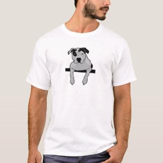 T-shirt Graphique d'à l'os de pitbull