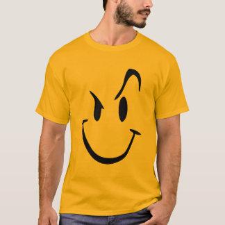 T-shirt graphique souriant fou