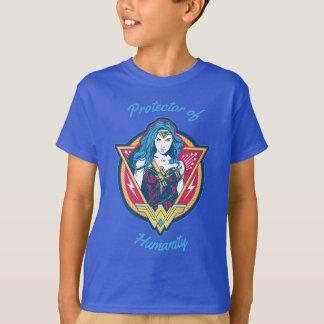 T-shirt Graphique tricolore de femme de merveille
