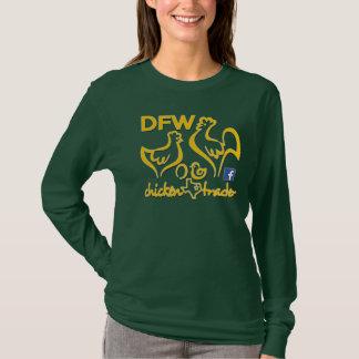 T-shirt Graphiques de commerçant/or de poulet de DFW