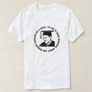 T-shirt Gratitude drôle de diplômé de mâle (texte noir)