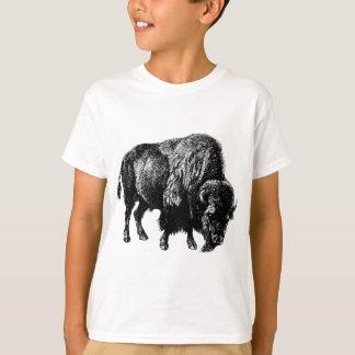 T-shirt Gravure du bois vintage de bison américain de