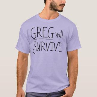 T-shirt Greg survivra au texte noir
