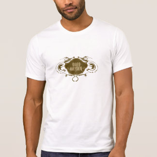 T-shirt GregHaydenLogoBrown