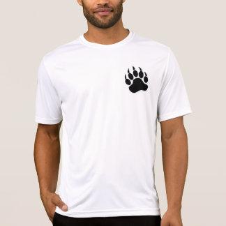 T-shirt Griffe d'ours gaie magnifique à B et à W - chemise